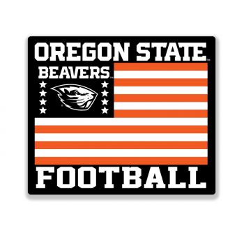 Beaver Football Flag Sticker