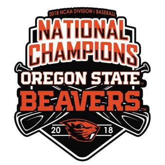 Oregon State Beavers 2018 CWS National Champions Decal