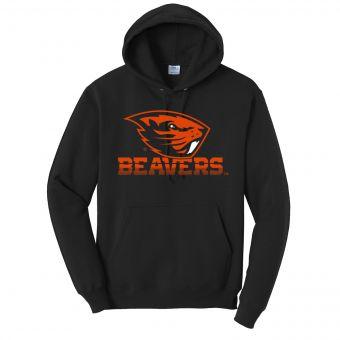Oregon State Beavers Fade | Hoodie | Black