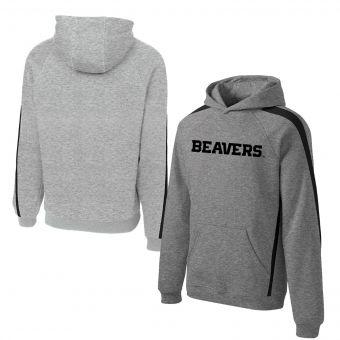 Oregon State Beavers Logo | Colorblock Hoodie | Grey & Black