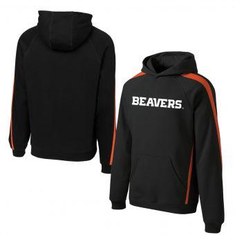 Oregon State Beavers Logo |Colorblock Hoodie | Black & Orange