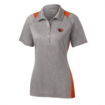 Embroidered Benny Polo - Women's Orange Grey