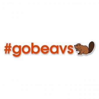 #GOBEAVS Emoji - Di-cut Decal - Orange