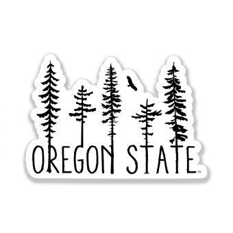 Oregon Trees Sticker