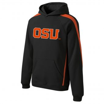 OSU Word Mark - Black Colorblock Hoodie